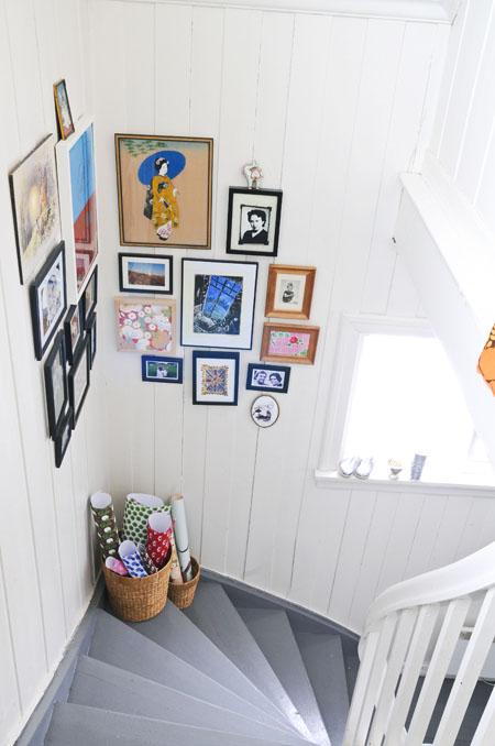 Blafre designer norwegian home scandinavian style white retro stair case