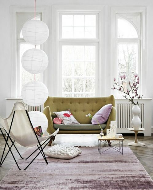A little pink a little yellow nordic bliss for Mauve living room decor