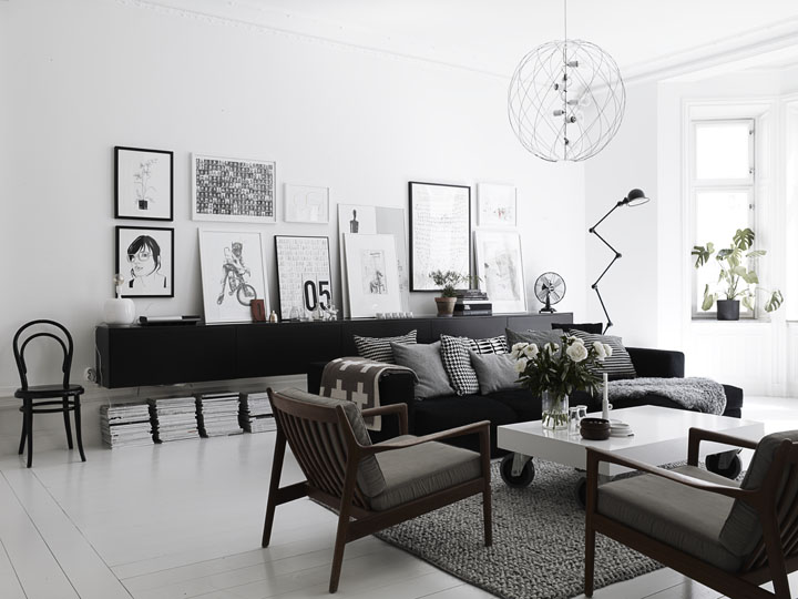 Scandinavian style white and black nordic bliss - Scandinavian interior design magazine ...