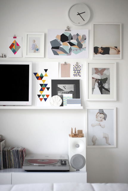 The home of finish interior stylist susanna vento - Mur de photos noir et blanc ...