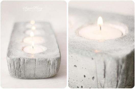 DIY: portavelas de cemento