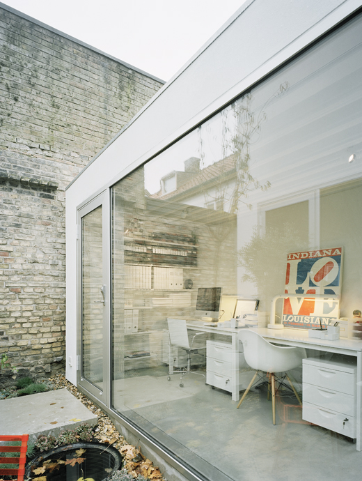 Modern block on old street nordic bliss for Home interior work